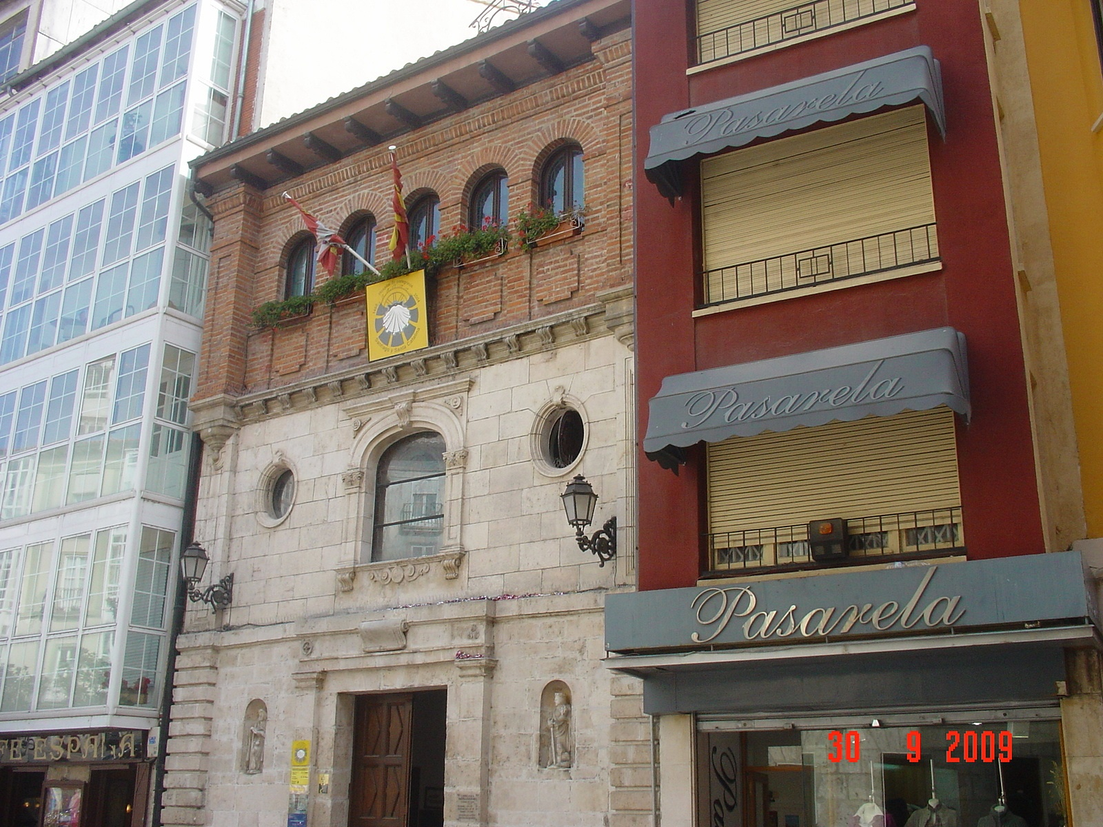 Ankunft in Burgos Albergo in der Innenstadt