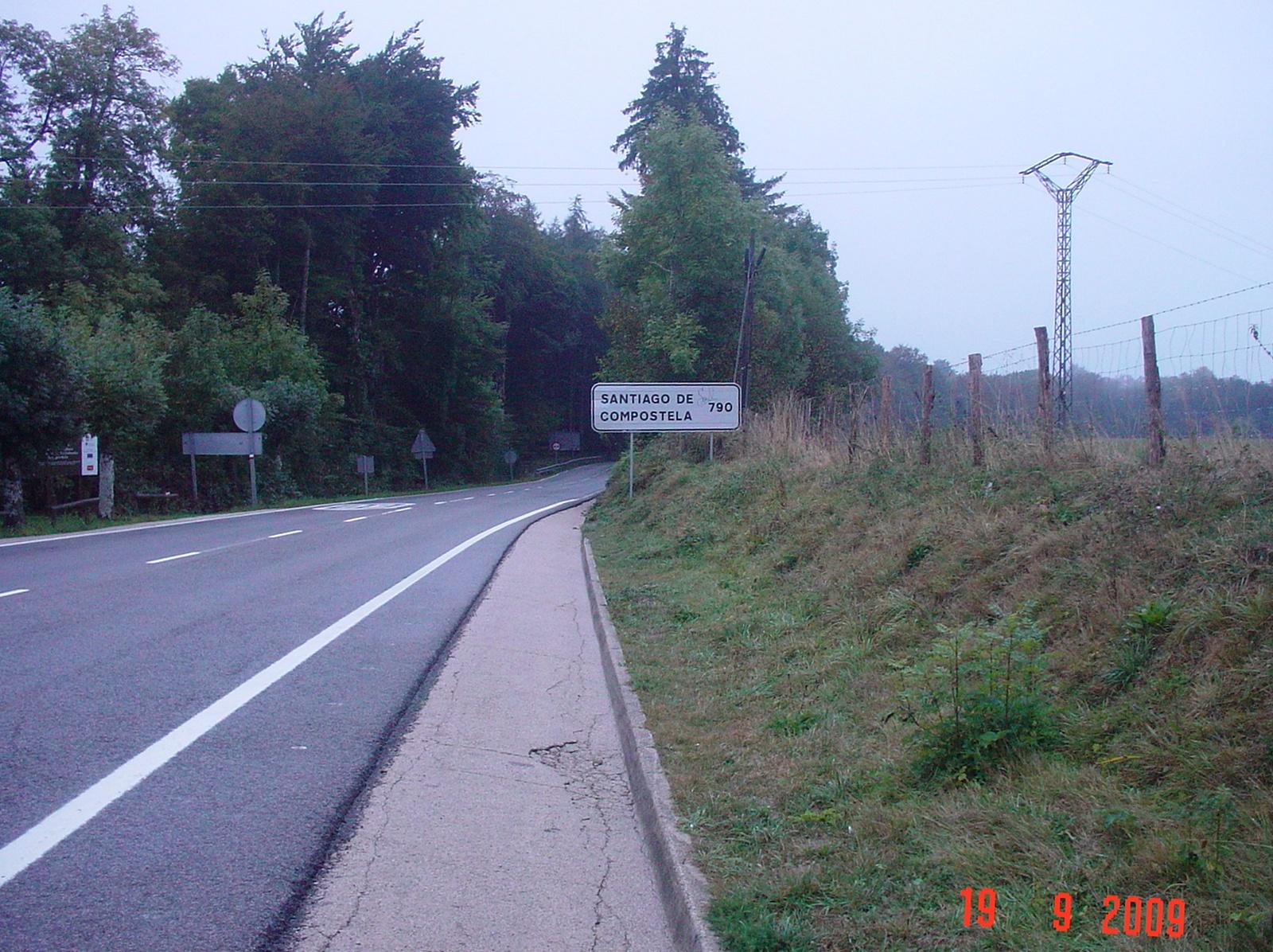 nur noch 790 km nach Santiago de Compostela, hahaha