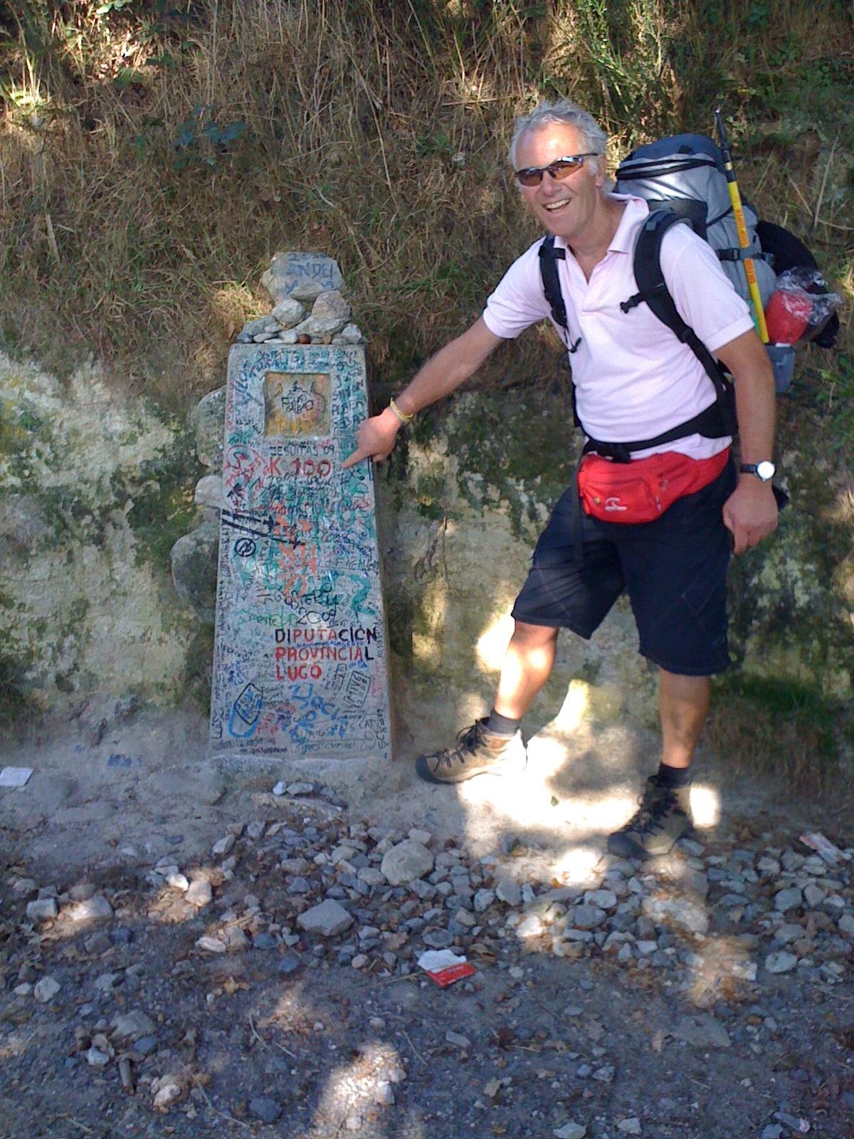 Caminostein 100 km bei A Brea