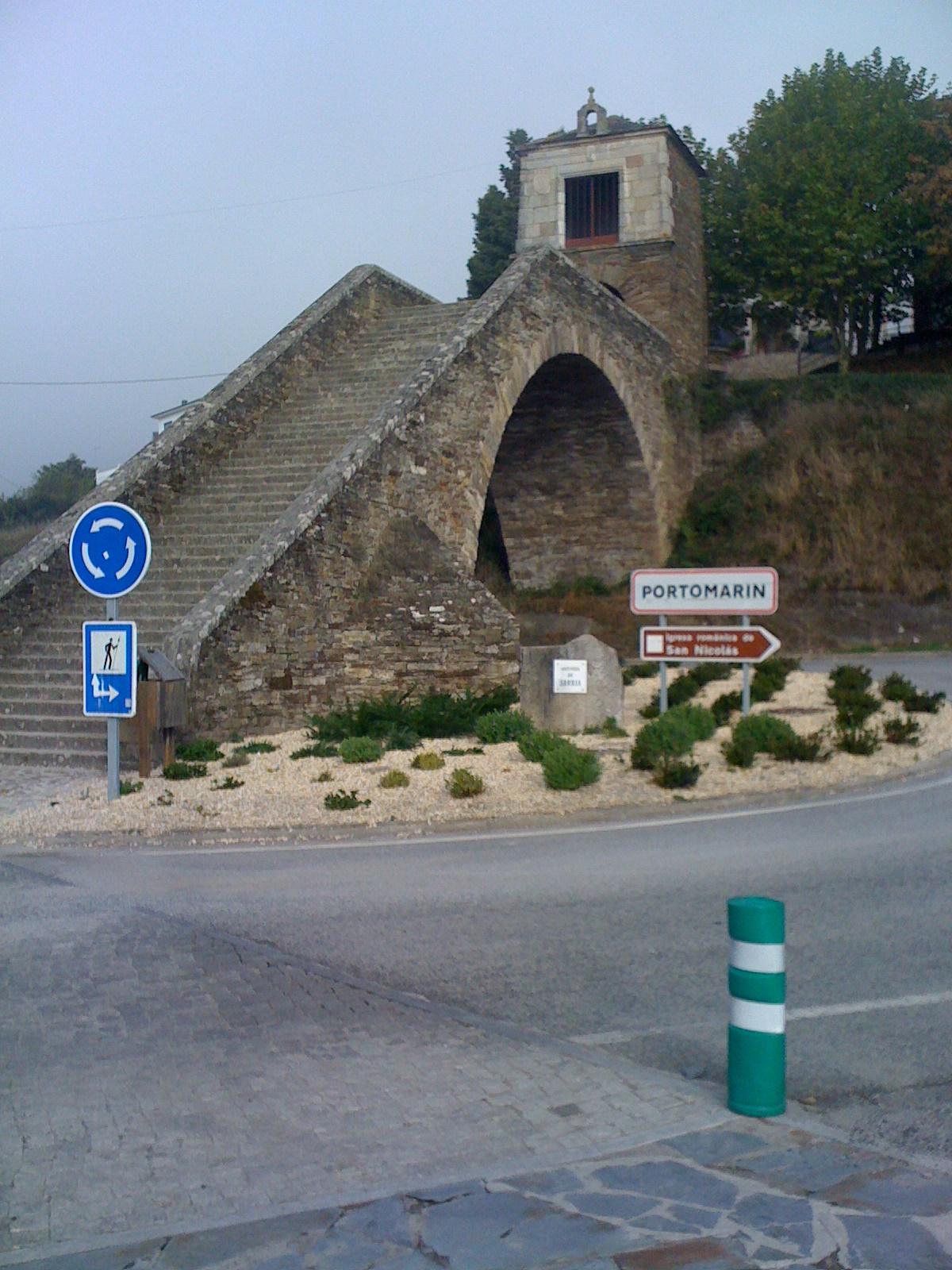 Portomarin, Treppe Hinauf zur Oberstadt