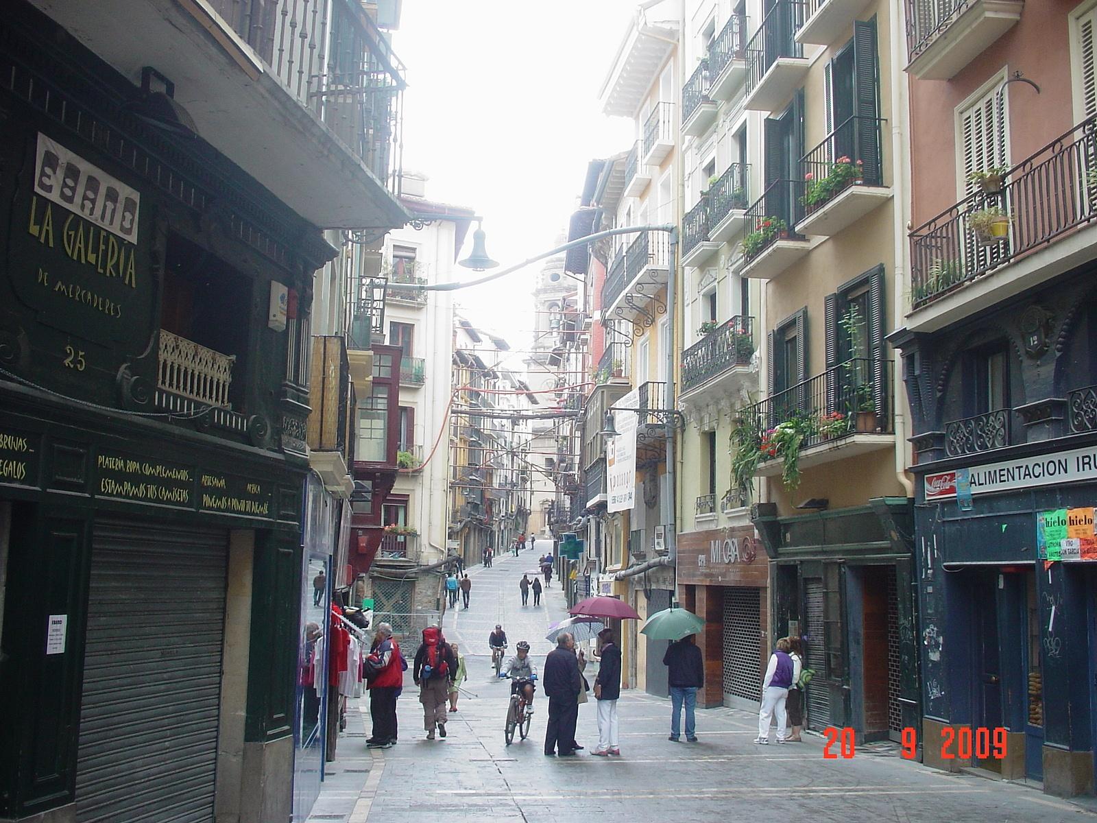 der Camino duch die Innenstadt