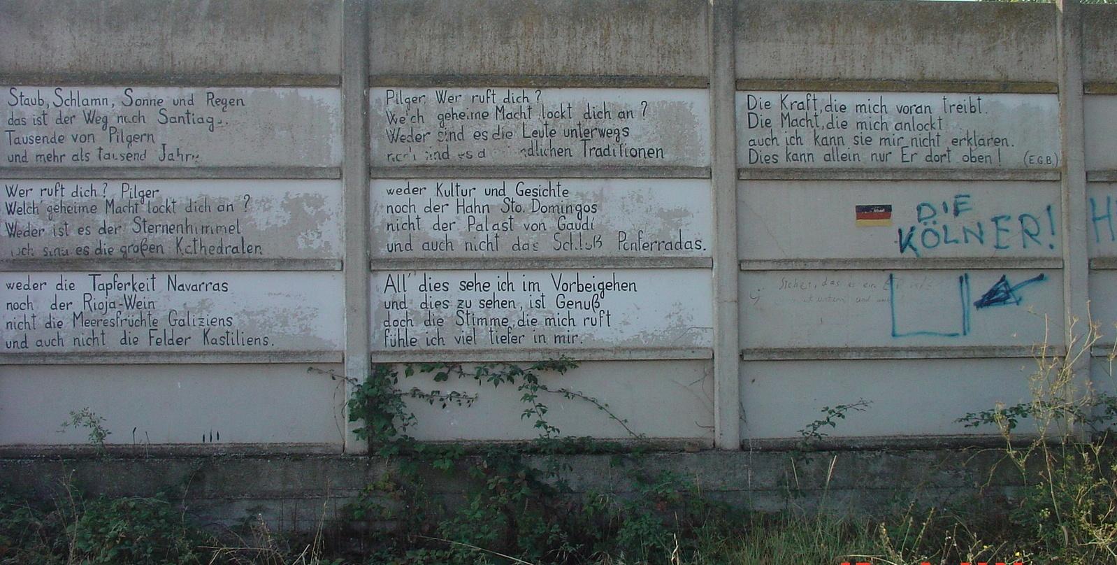 Ein schönes Pilgergedicht in deutsch