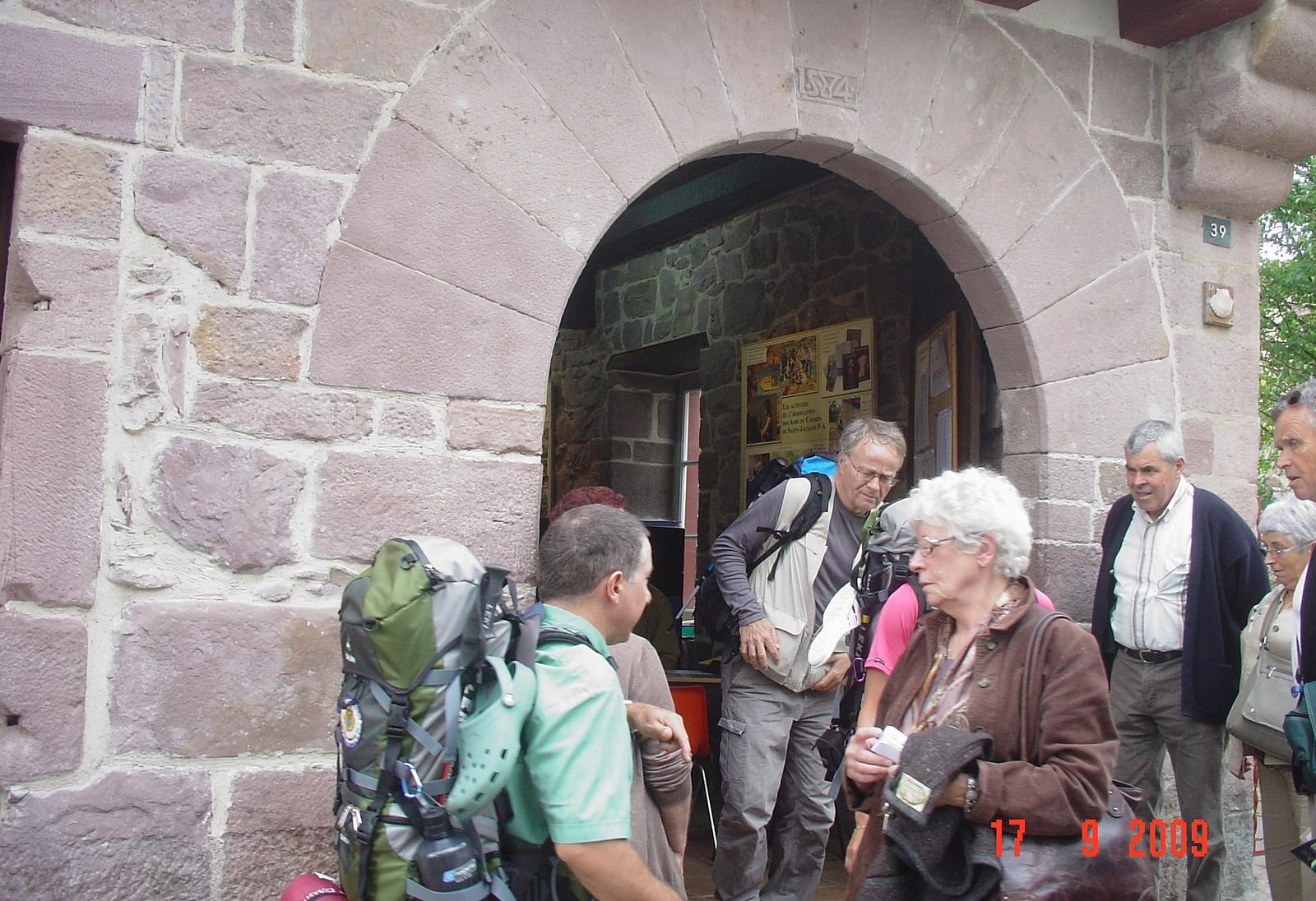 das Pilgerbüro in Saint Joan Pie de Port